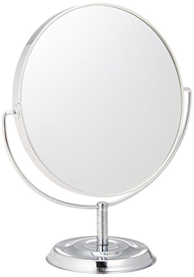 純粋に腐食するうなり声メリー 片面約5倍拡大鏡付両面鏡卓上ミラー シルバー No.5880