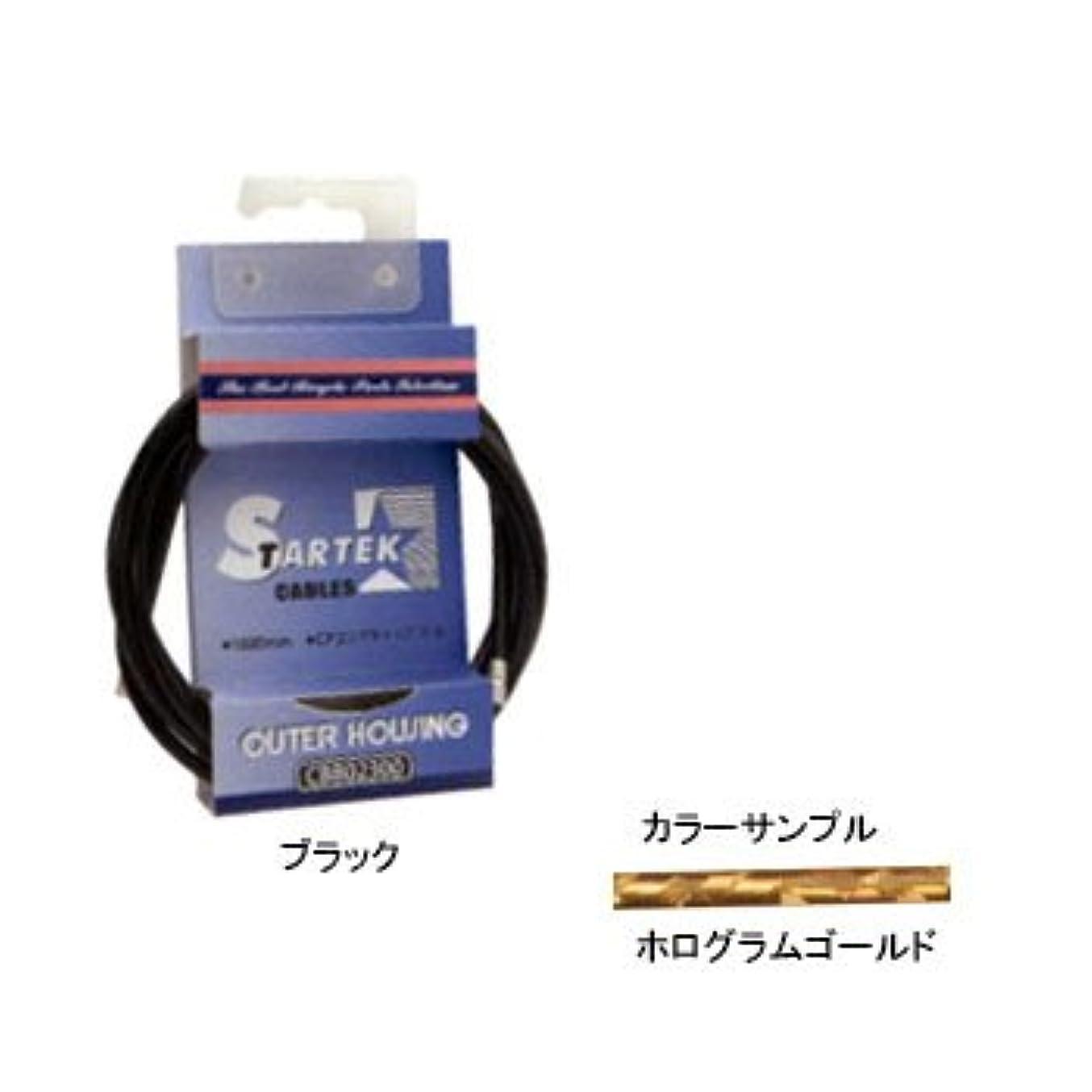 単独でティーム請願者GIZA(ギザ) STARTEK ブレーキ アウター ケーブル 1.8m ホログラムゴールド CBB02311