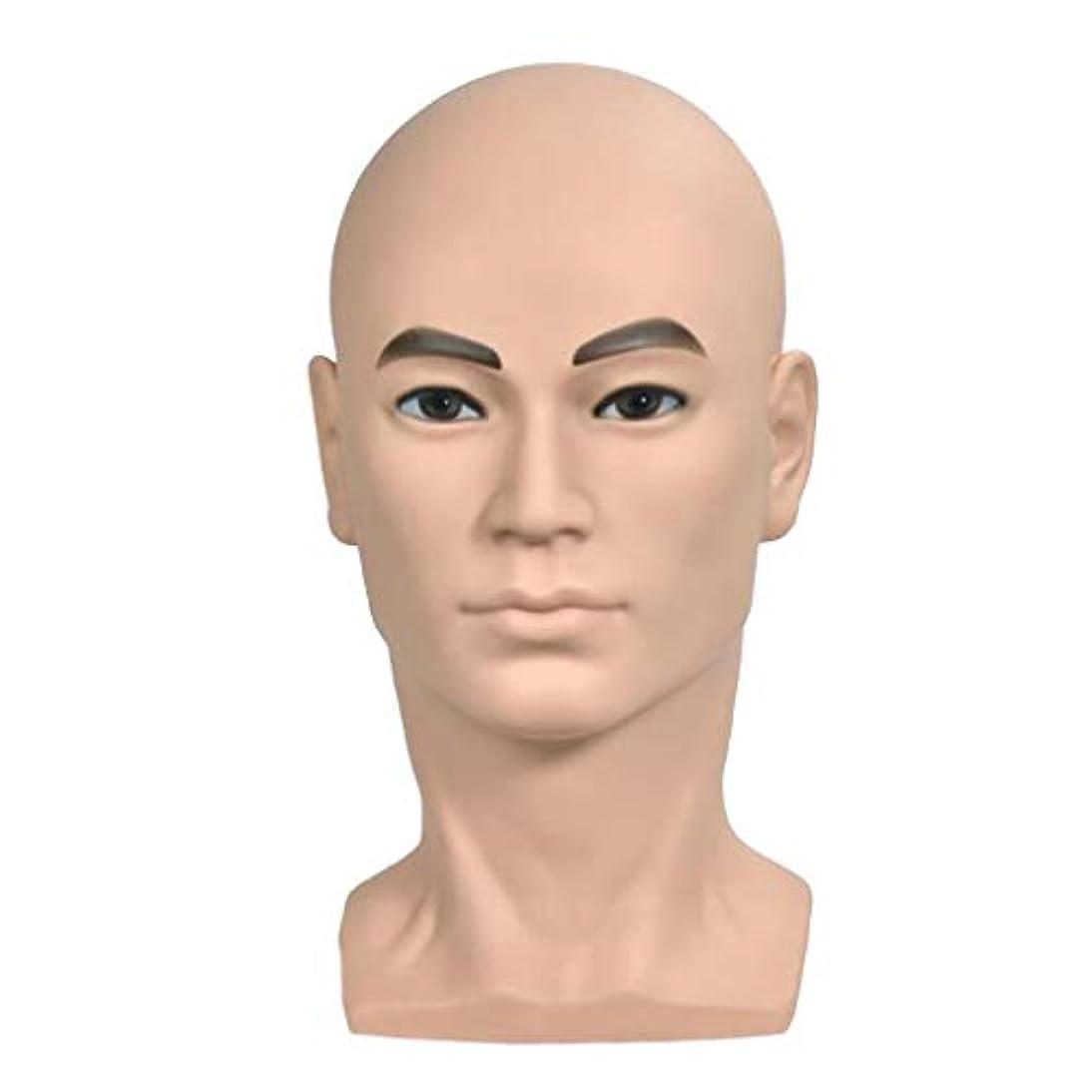平凡特徴空いているマネキンヘッド 男性 ヘッドモデル ウィッグ 帽子 ディスプレイ ホルダー 美容院 家