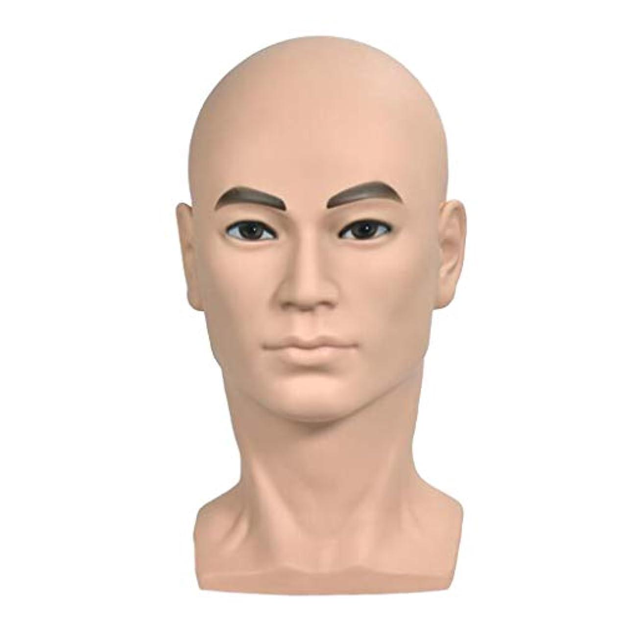 トライアスロンオープナー質量マネキンヘッド 男性 ヘッドモデル ウィッグ 帽子 ディスプレイ ホルダー 美容院 家
