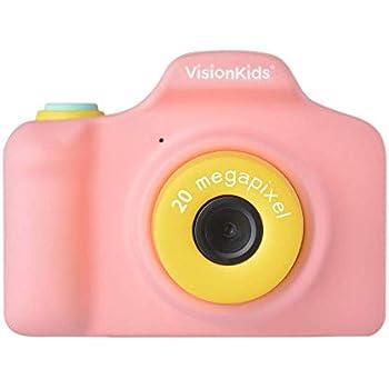 VisionKids HappiCAMU+ ハピカムプラス ピンク 高性能トイカメラ【日本正規代理店】2000万画素 ビデオ タイマー撮影 フレーム 子供用 プレゼント JP051
