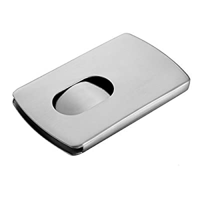 Housweety Men's 1Pc 304 Stainless Steel Credit Card Id Money Clip Box Holder