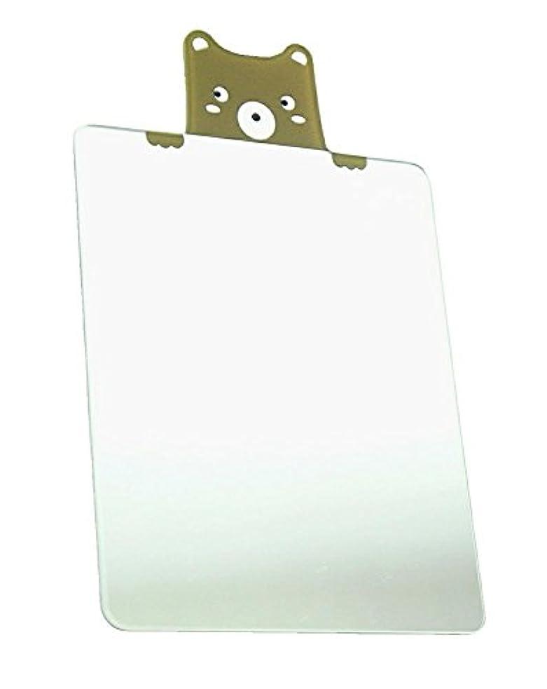 富支援エミュレーション鏡 ミラー 割れない スマホ 財布 名刺サイズ (スクエアベア)