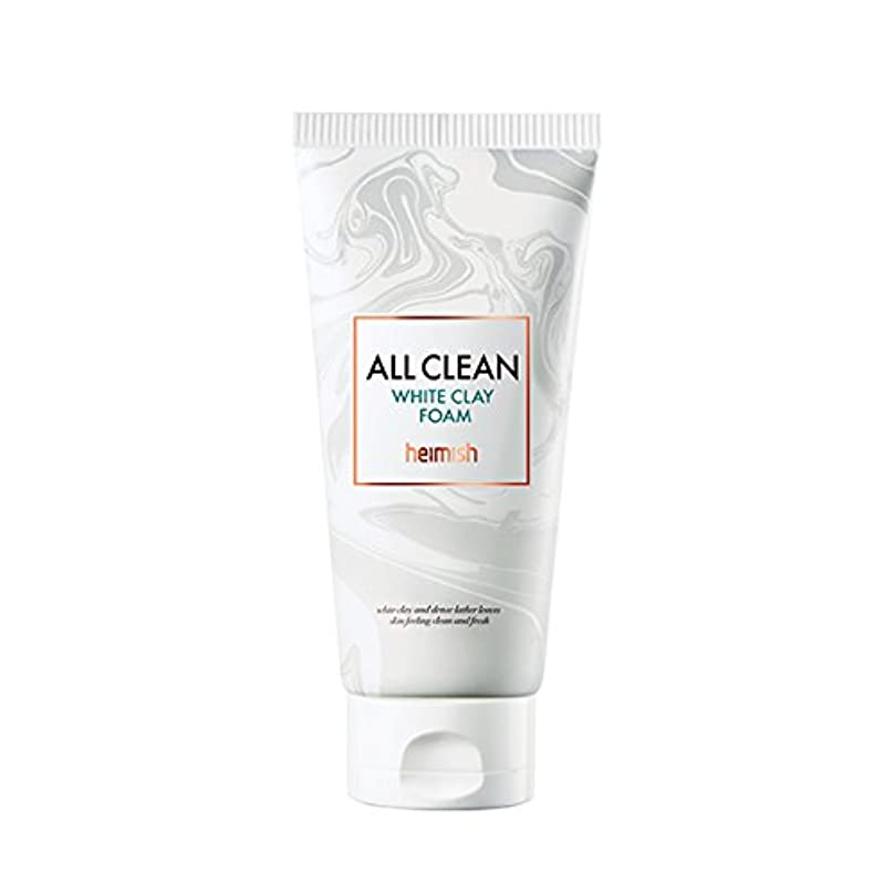 デコレーションスクリュー可聴heimish All Clean White Clay Foam 150g/ヘイミッシュ オールクリーン ホワイト クレイ フォーム 150g