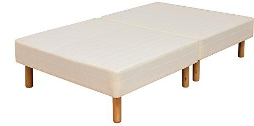 ottostyle.jp 脚付きマットレス 脚高25㎝ ボンネルコイル 【セミダブル】 幅120cm 分割式で移動楽々 収納ボックスが置ける マットレスベッド ベッド下収納可