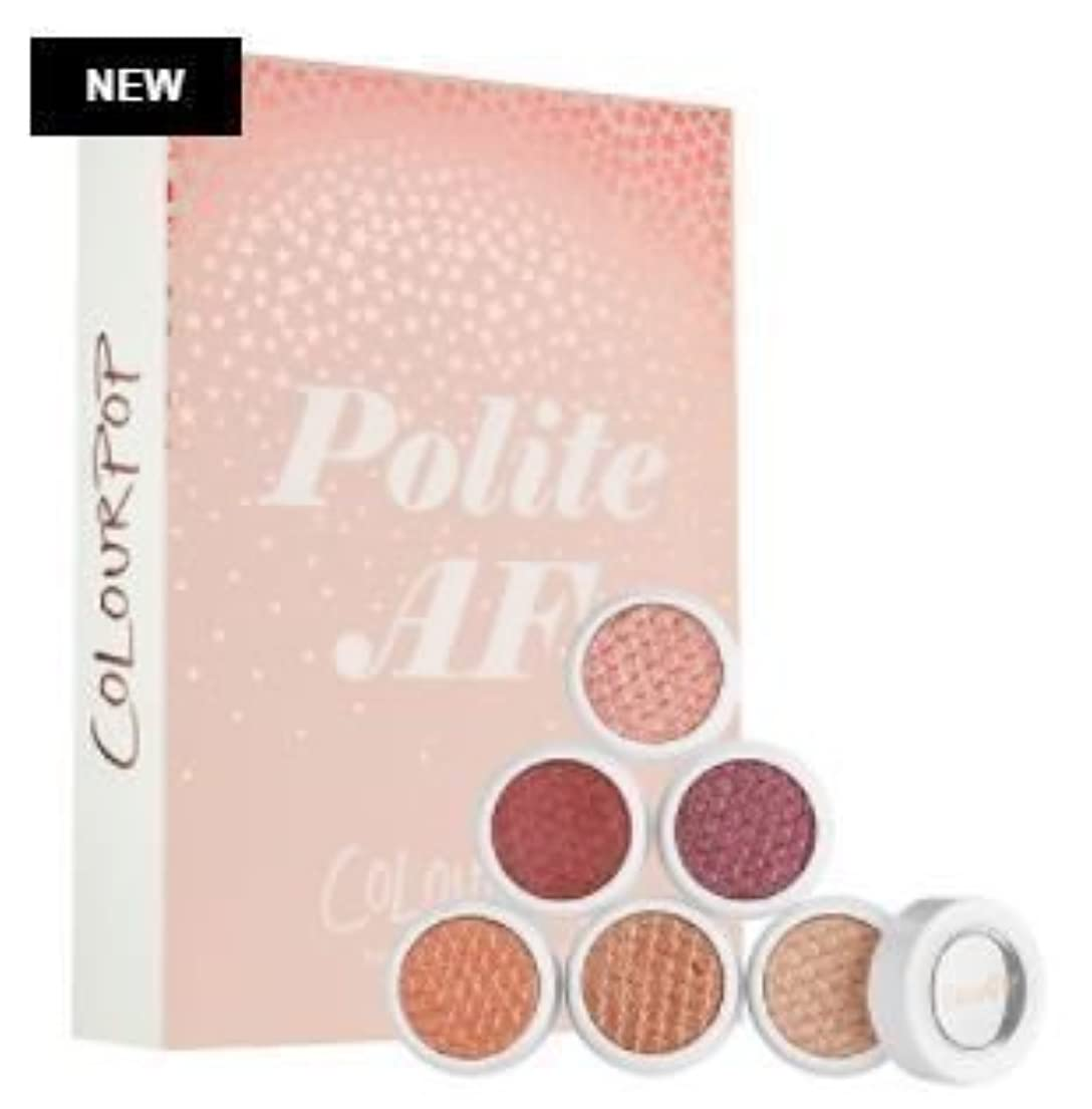 拷問騒絡まるColourpop POLITE AF Shadow Kit ☆Super Shock Shadow Collection