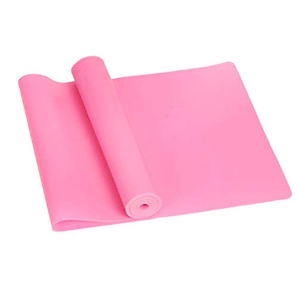 ピンク実現可能性国民スポーツジムフィットネスヨガ機器筋力トレーニング弾性抵抗バンドトレーニングヨガゴムループスポーツピラティスバンド - ピンク