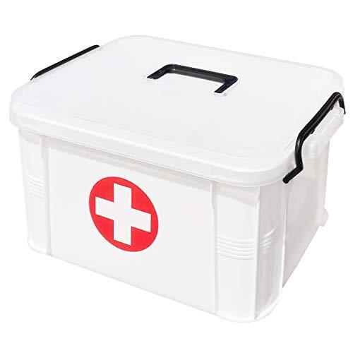 ProductA 救急箱 薬箱 薬収納 収納ボックス 収納 大容量(M)