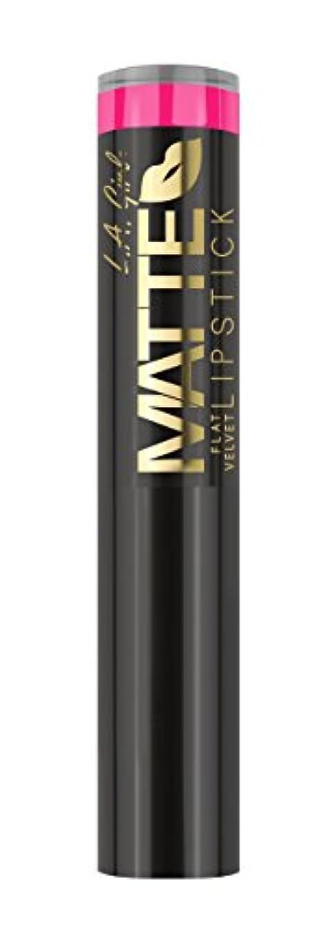しなやかな罪人常にL.A. GIRL Matte Flat Velvet Lipstick Electric (並行輸入品)