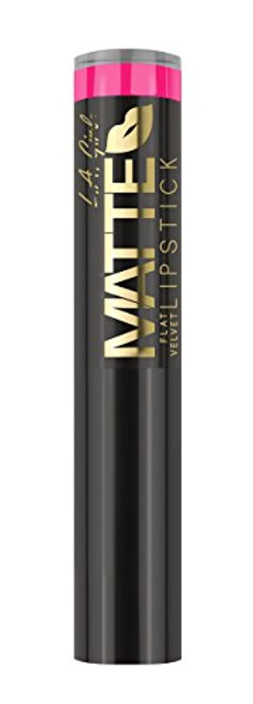 選択シェーバーの慈悲でL.A. GIRL Matte Flat Velvet Lipstick Electric (並行輸入品)