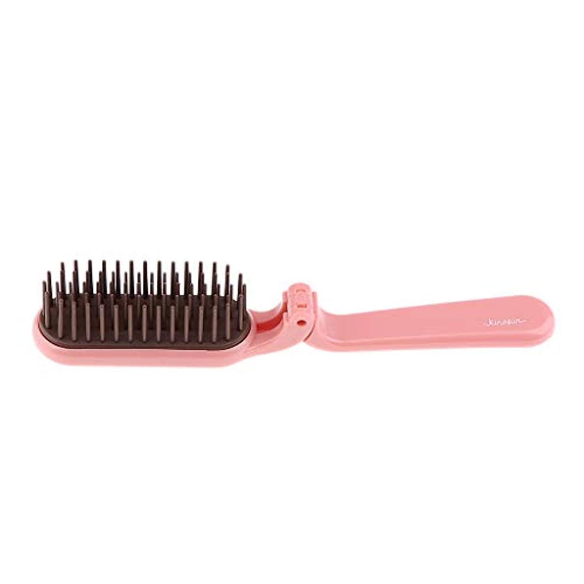 呼びかける靴下汗くし 折りたたみ ヘアコーム 櫛 くし コーム 静電気防止 耐熱性 2色選べ - ピンク
