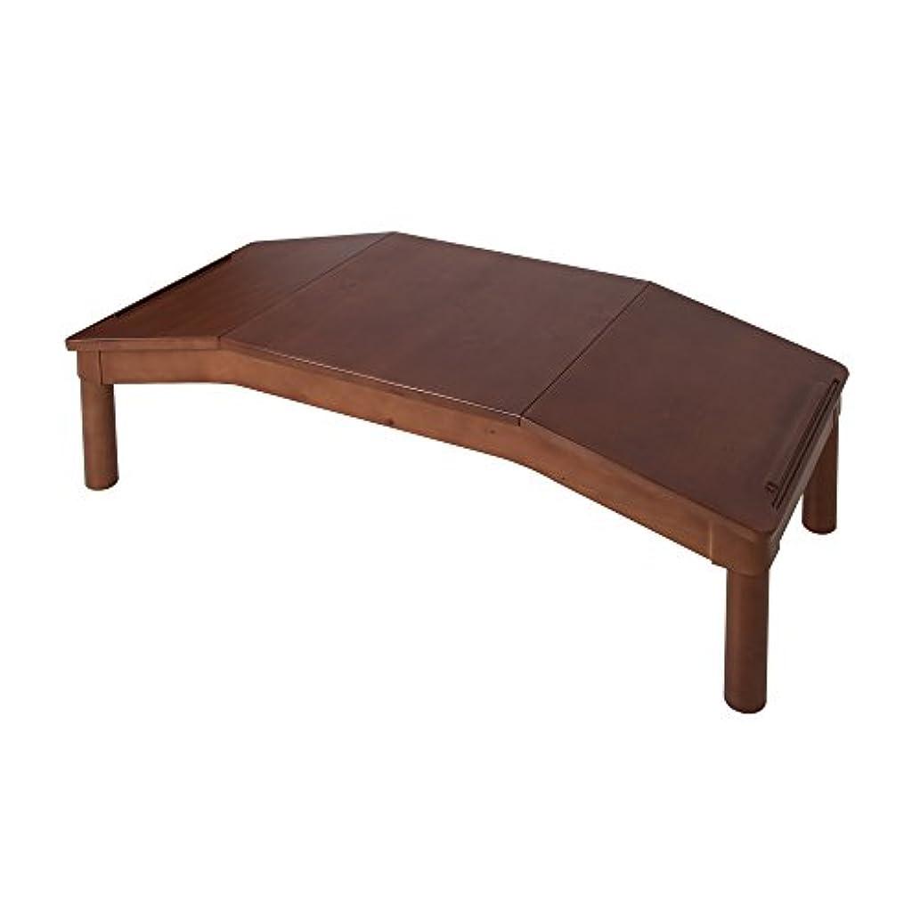 子供部屋 テーブル 天然木 幅117cm 角度付き/子供用 家具