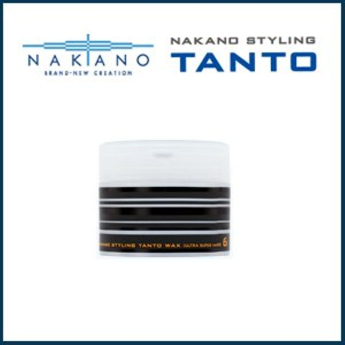 開梱徒歩で側溝【X5個セット】 ナカノ タント Nワックス 6 ウルトラスーパーハード 90g 容器入り