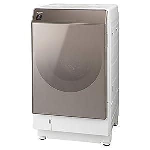 シャープ SHARP ドラム式洗濯乾燥機(ヒートポンプ乾燥) ゴールド系 左開き(ヒンジ左) 幅640mm 奥行728mm DDインバーター搭載 洗濯11kg/乾燥6kg ES-G111-NL