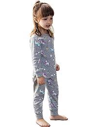 パジャマ 2点セット 綿100% 部屋着 寝間着 上下セット 2-11歳 女の子 半袖 長袖 子供服 トップス パンツ キッズパジャマ カジュアル 快適 肌触りがいい