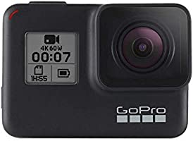 GoPro HERO7 Black, Waterproof Digital Action Camera with Touch Screen 4K HD Video 12MP Photos Live Streaming Stabilization