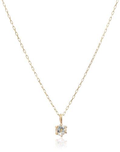 [エムイーリュクス] me.luxe アクアマリン/誕生石1粒石ネックレス (K10ゴールド) 95-0680
