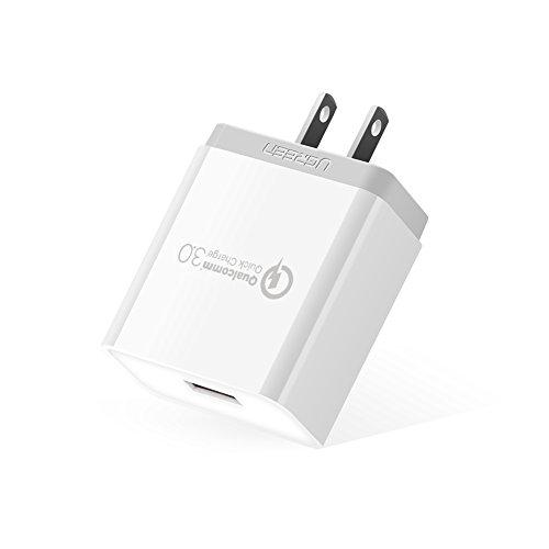 UGREEN USB 急速充電器 Quick Charge 3.0 18W ACアダプター Qualcomm認証済 Galaxy S7/S6/Edge/Edge Plus、HTC 10、Xperia 、HUAWEI Mate9、Moto G4 Plus、iPhone各種、iPod、iPad各種、Android スマホ/タブレット、Wi-Fiルーター、モバイルバッテリー、Bluetoothイヤホンなど急速充電対応