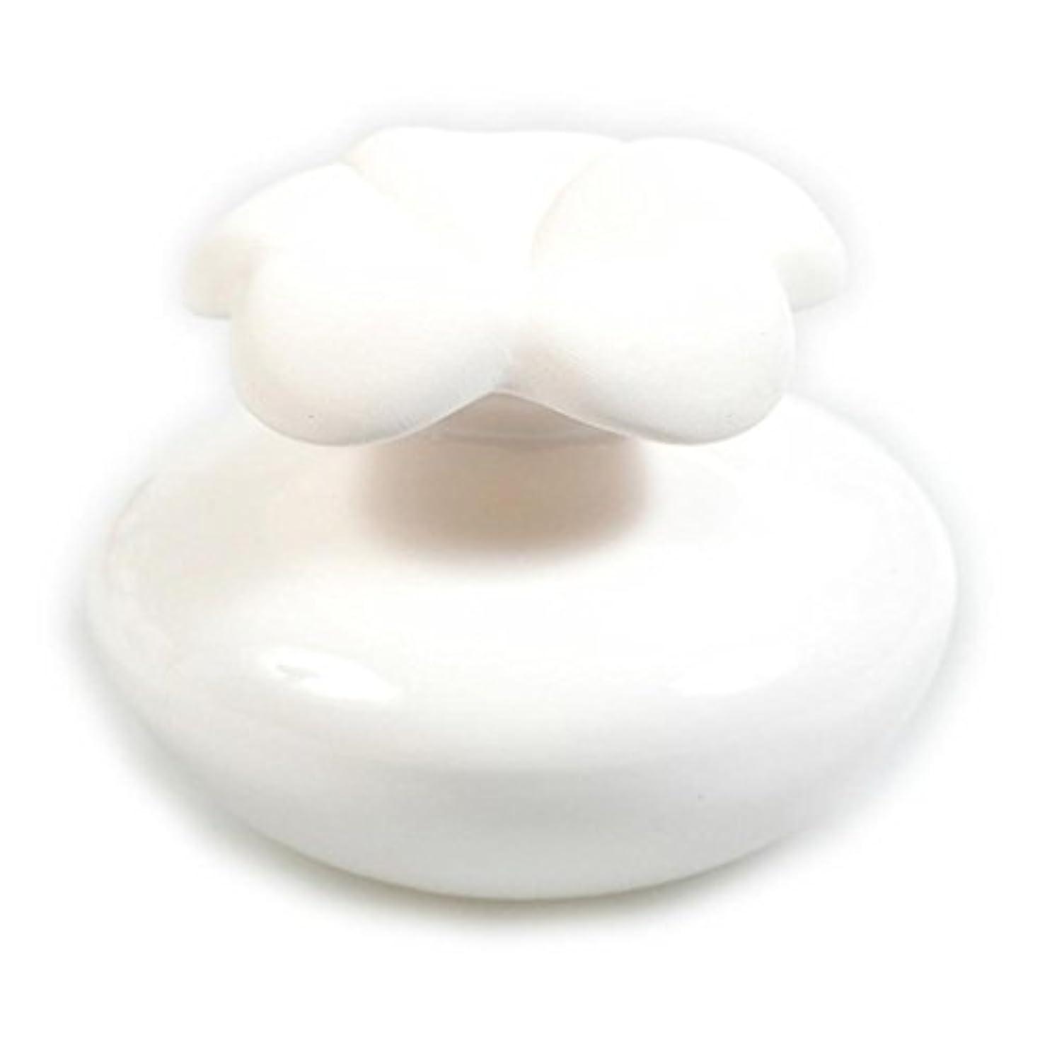 Millefiori FIORE ルームフレグランス用 花の形のセラミックディフューザー Sサイズ ホワイト LDIF-FS-001