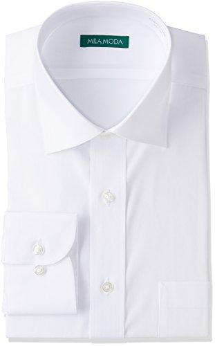 (ヤマキ) YAMAKI MILA MODA・形態安定・スリムフィット・ワイドカラー長袖ワイシャツ GAD421 100 100 42-82