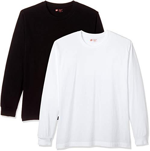 [ヘインズ] Tシャツ ジャパンフィット クルーネック 長袖 2枚組 H5420 メンズ