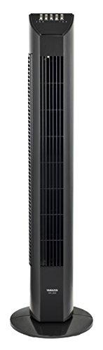 [山善] 扇風機 タワーファン リモコン/風量3段階 タイマー付 ブラック YSR-J802(B) [メーカー保証1年]