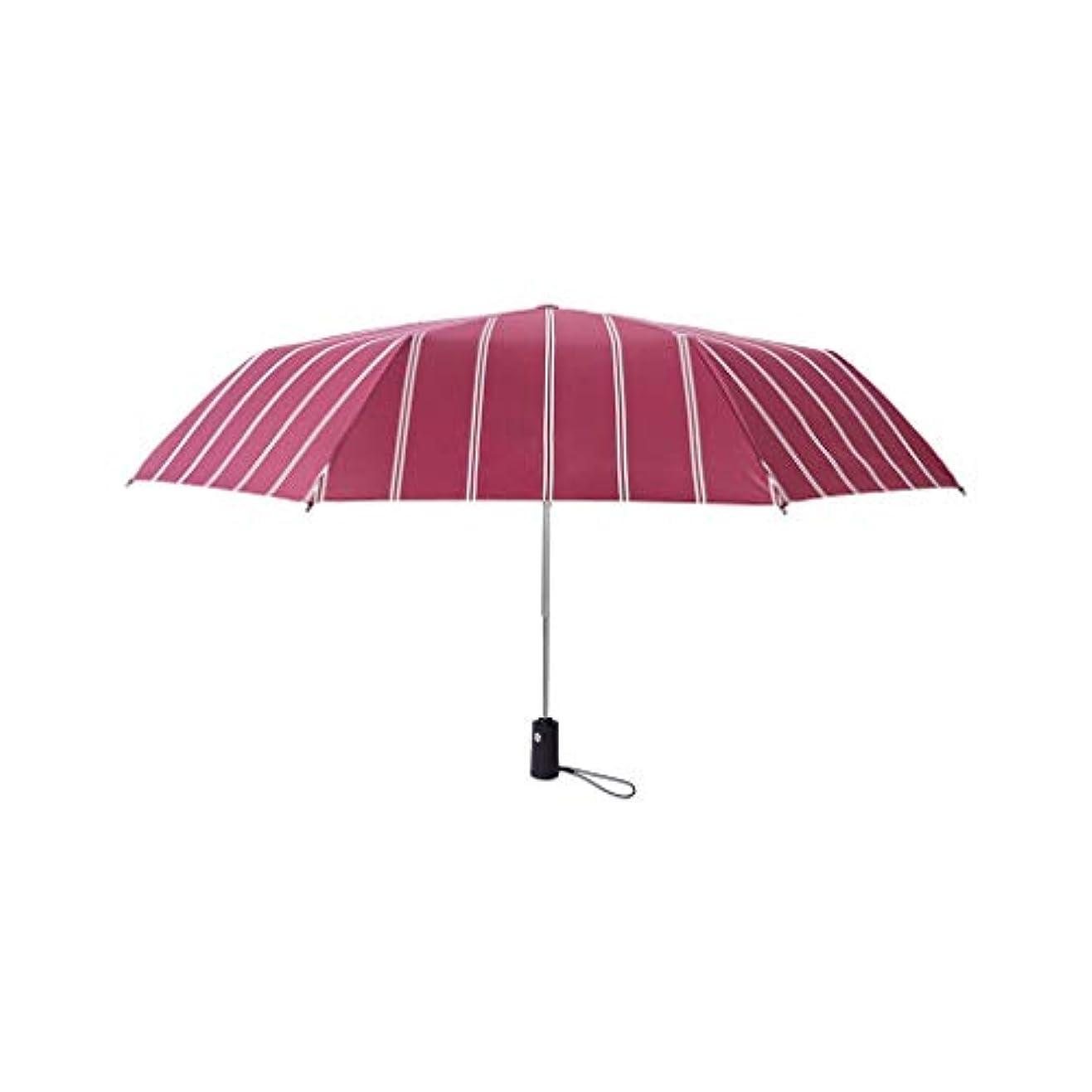 シンジケートあなたのもの素晴らしさPy 自動傘ストリップ傘日焼け止め雨兼用折りたたみ傘三つ折り傘