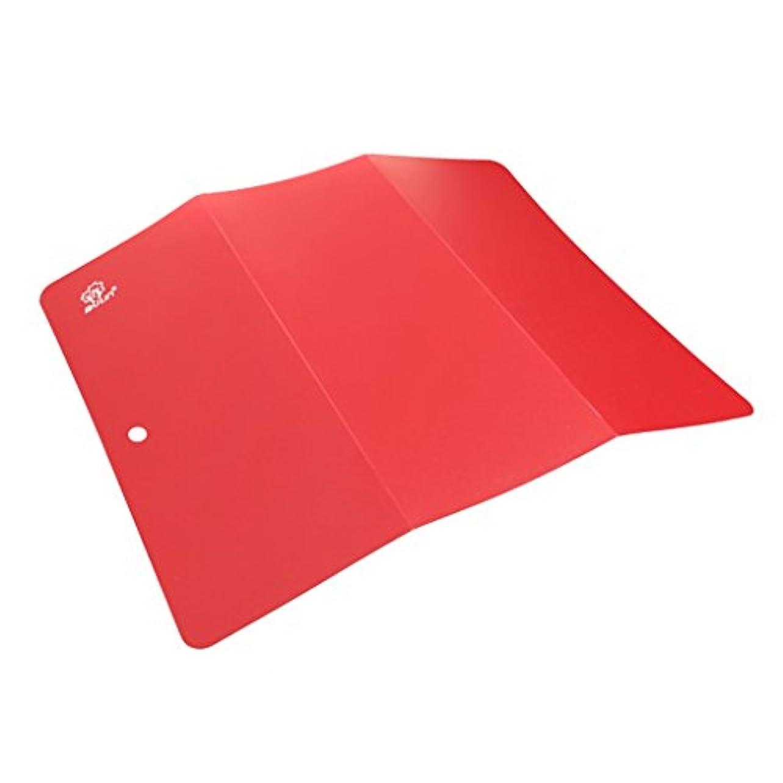 ビンハイキングに行く解任Perfeclan まな板 料理ボード 折り畳み 屋外料理 ピクニック アウトドア 用品 料理バーツ 軽量 赤