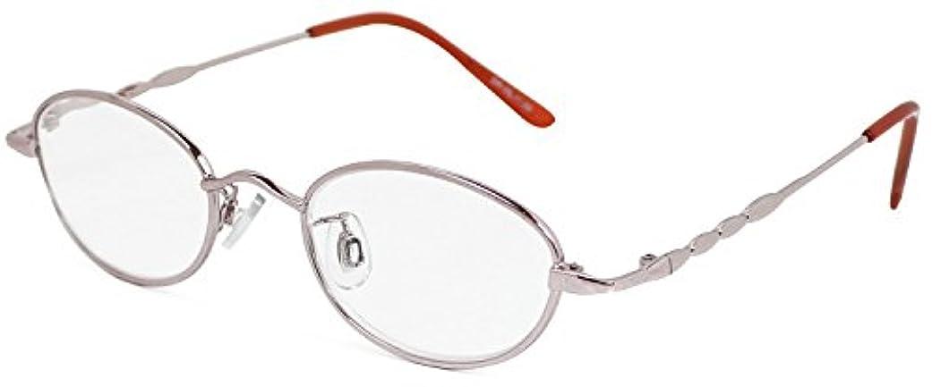 プロジェクター小説類似性デューク 老眼鏡 +2.0 度数 メタルフレーム ソフトケース付き ピンクゴールド DR-25+2.00