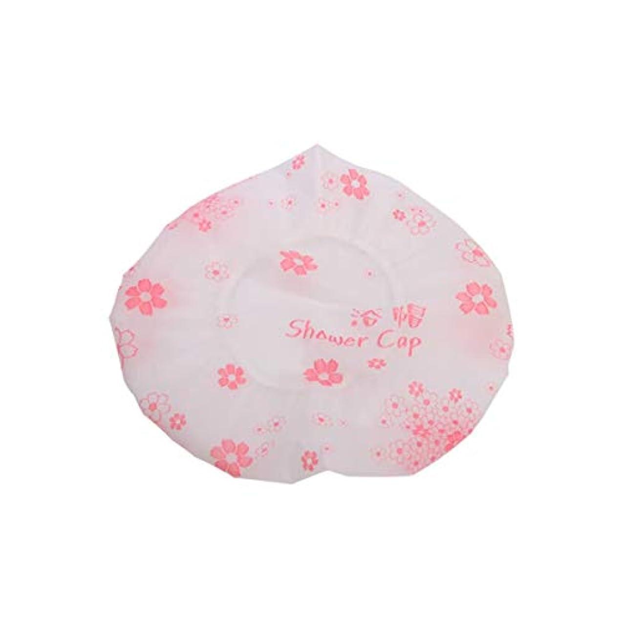 ペンフレンドヒステリックテニスHMSH キャップ防水弾性シャワーキャッププリントシャワーキャップ(ランダムな色)をシャワー (Color : Pink)
