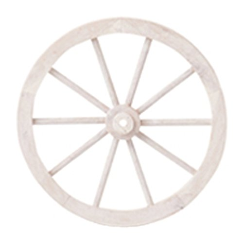 PL ウォールディスプレイ アンティーク調 木製車輪 IDYLLIC GARDEN ガーデンウィール S 直径30cm ホワイト 40876