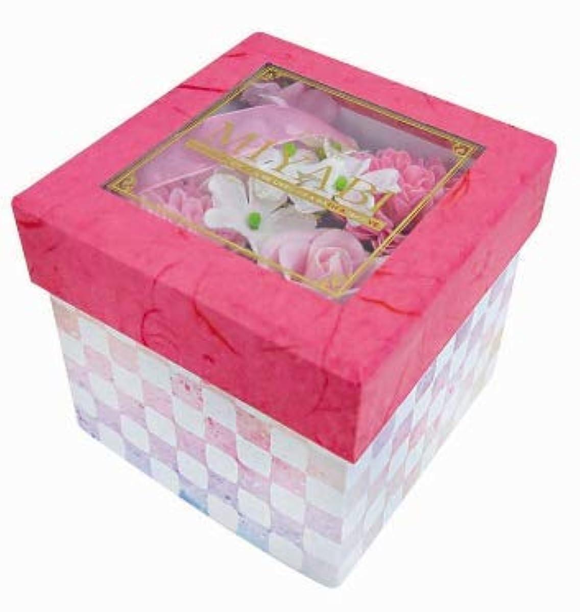 寝室を掃除する逆心配する花のカタチの入浴剤 和バスフレBOX-MIYABI-M恋 775581