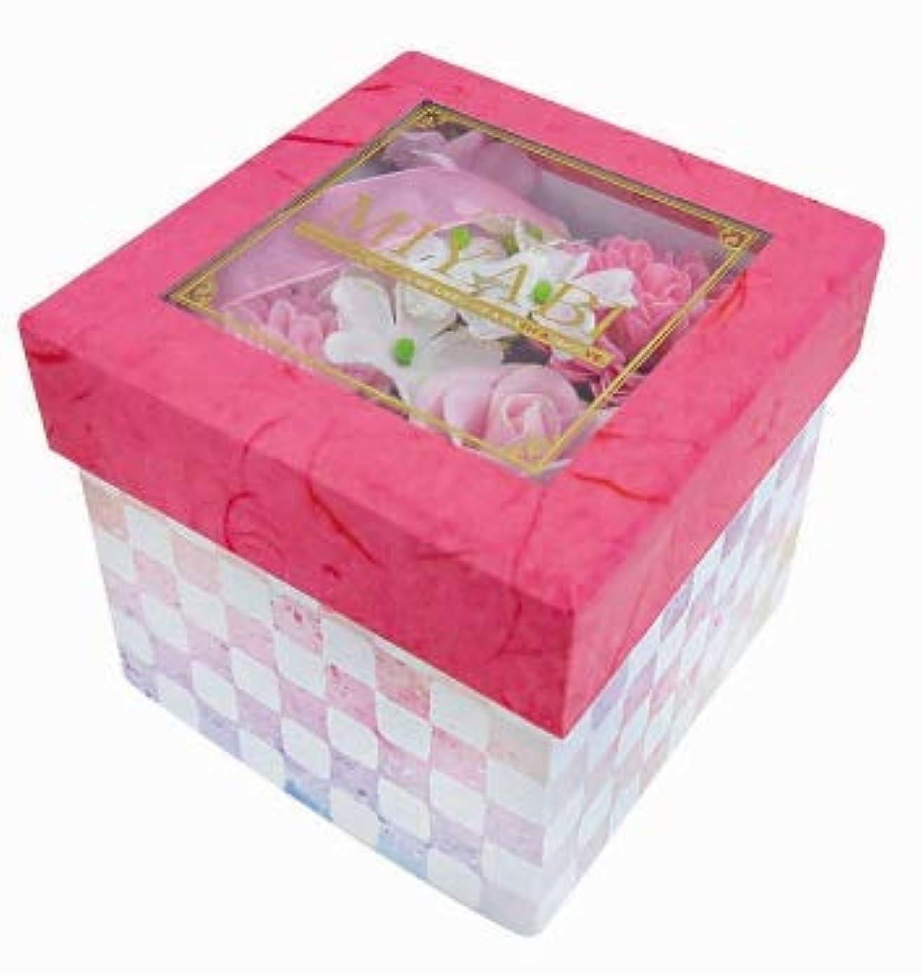 自分恩恵デコラティブ花のカタチの入浴剤 和バスフレBOX-MIYABI-M恋 775581