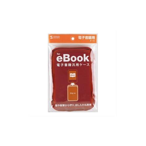 SANWA SUPPLY アウトレット スリップインケース 電子書籍 レッド PDA-TABS6R 箱にキズ、汚れのあるアウトレット品です。