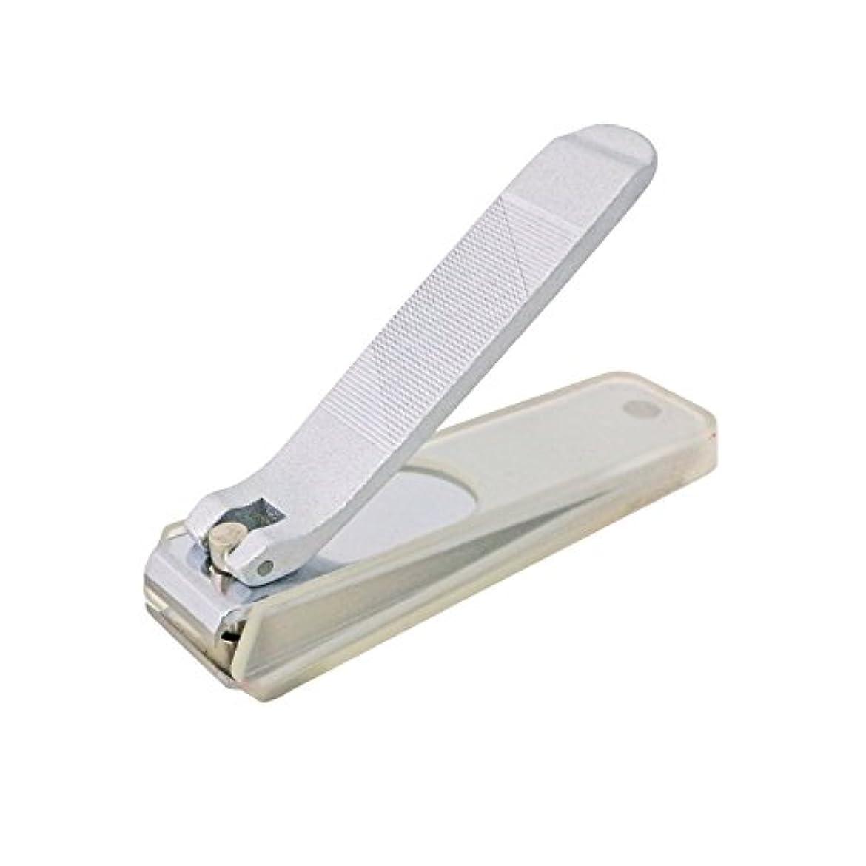 キャプテンブレス航空便日本製 ITEZA クローム 直刃つめきり 小 カバー付 箱入り