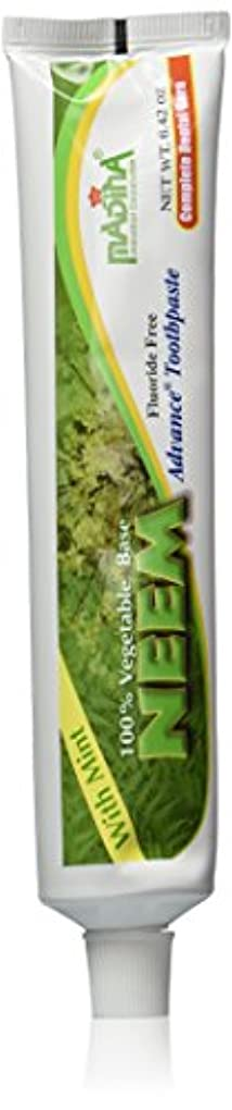 スポーツの試合を担当している人ペンフレンドを除く(2-Pack) Madina 100% Vegetable Base Neem Advance Toothpaste 6.42oz with Mint by Madina [並行輸入品]