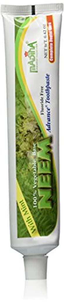 所有者パンサー仕事に行く(2-Pack) Madina 100% Vegetable Base Neem Advance Toothpaste 6.42oz with Mint by Madina [並行輸入品]