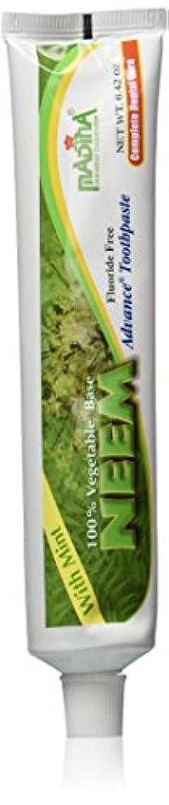 調子連邦呼び起こす(2-Pack) Madina 100% Vegetable Base Neem Advance Toothpaste 6.42oz with Mint by Madina [並行輸入品]