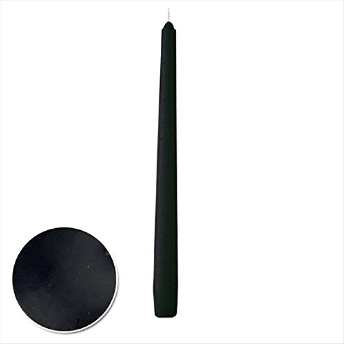 火山学者細いためらうカメヤマキャンドル(kameyama candle) 12インチテーパー 「 ブラック 」 12本入り