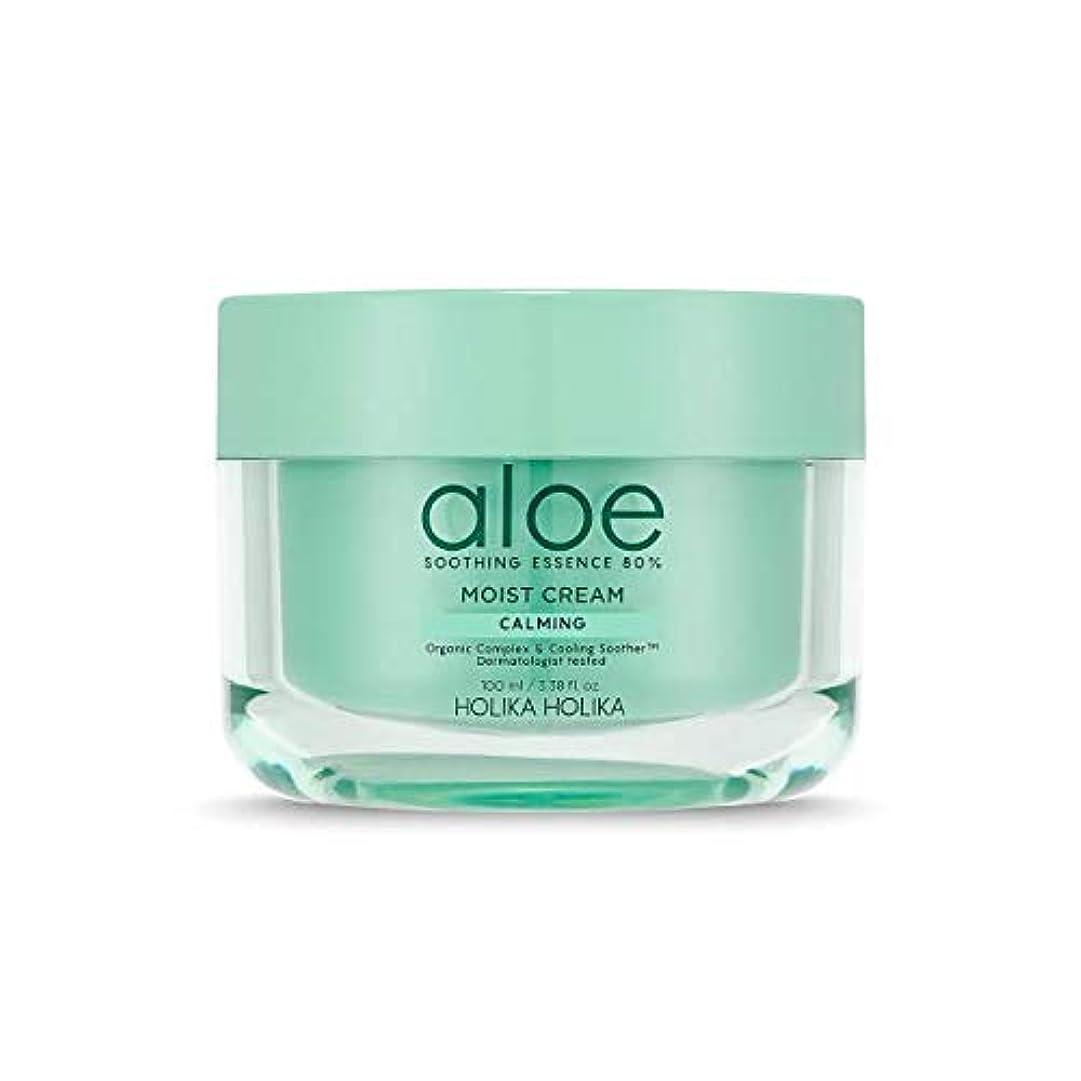 適度に睡眠単なる[ホリカホリカ] アロエスージングエッセンス80%水分クリーム / [HOLIKA] Aloe Soothing Essence 80% Moist Cream 韓国コスメ [並行輸入品]