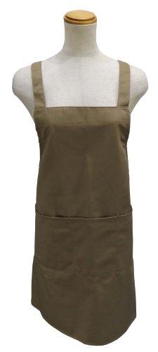 MFI エプロン 保育士 大きなサイズ さんも 納得 した 耐洗 撥水 防汚 加工 タフネス 仕様 女性 男性 など プレゼント にも 喜ばれる スタイリッシュ で シンプル 高品質 タイプ (着丈88cm) フリーサイズ (スタイリッシュベージュ)