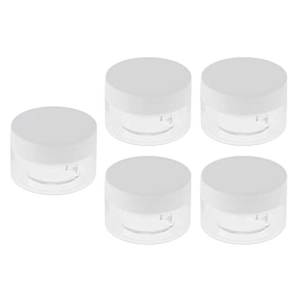 パケット花ラブ5個セット クリームボトル 詰替え容器 ローションジャー 30g 空 化粧品ボトル 全2色 - 白