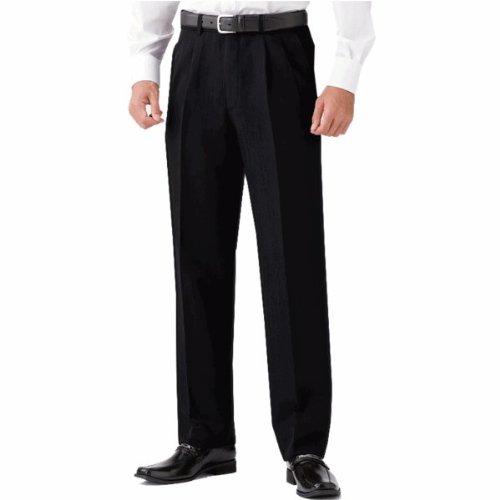 選べる裾上げ済みツータックビジネススラックス 通年物 ブラック (ウエスト82cm, レングス67cm)