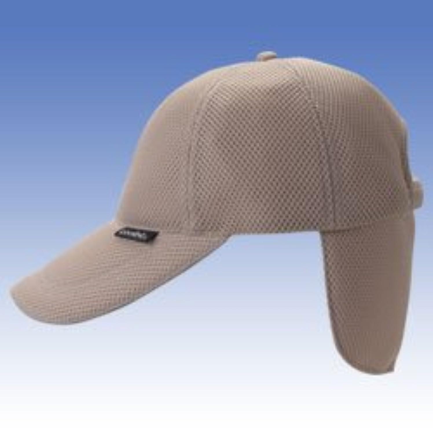 周辺十一コンサルタントヒンヤリ冷える帽子?クールビット(coolbit)キャップCBSPCP82ベージュ色 後ろカバー部を水に浸し気化熱で冷える!暑さ?熱中症対策に!夏のアウトドアが涼しく爽快!フラップ涼令構造が特許取得商品。