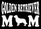 Golden Retriever Momデカールビニールsticker|cars Trucks Vans壁laptop|ホワイト|5.5X 3in|lli388