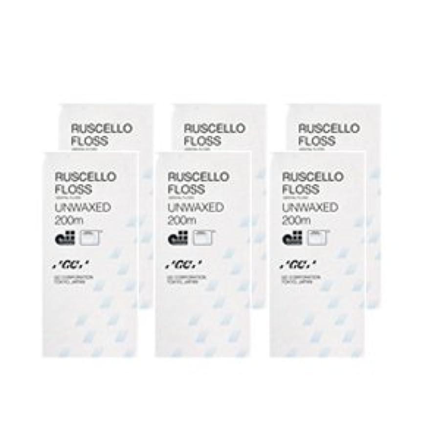 寝室光沢ヘルシージーシー ルシェロ フロス アンワックス ホワイト 200m×6個セット