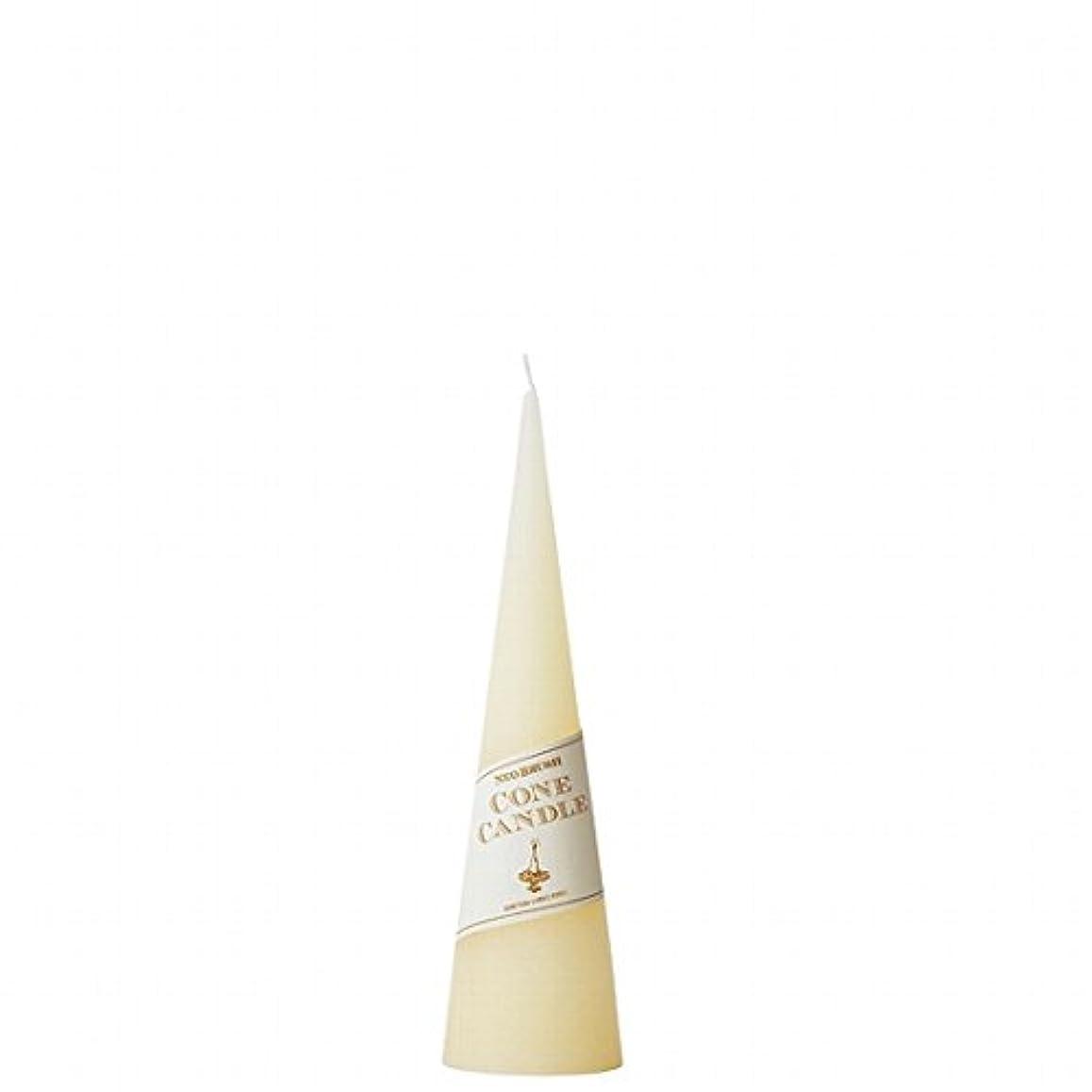 カメヤマキャンドル( kameyama candle ) ネオブラッシュコーン 180 キャンドル 「 アイボリー 」