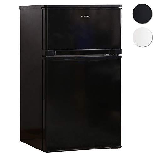 アイリスオーヤマ 冷蔵庫 81L  2ドア 右開き ノンフロン 温度調節7段階 静音 メーカー1年保証 ブラック NRSD-8A-B