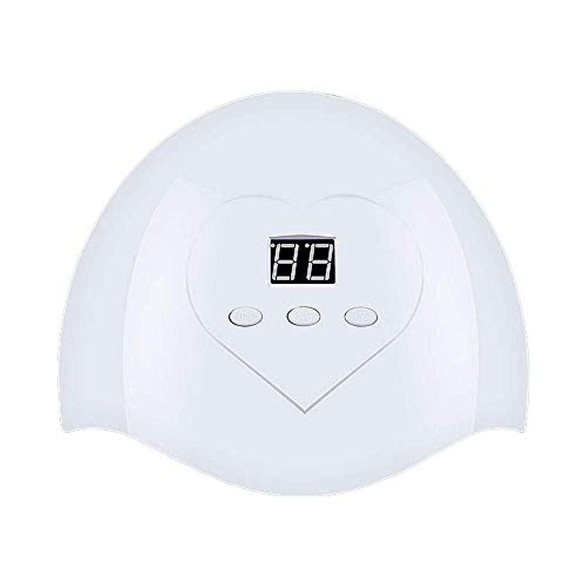 縁石突然の黙DHINGM ネイルランプ、高速、非常にエネルギー効率と耐久性のある快適な非UVホワイトライト、いいえ瞳傷害、36W、12 UV + LEDデュアルLED光源、インテリジェントオートセンシング(なしスイッチ)、