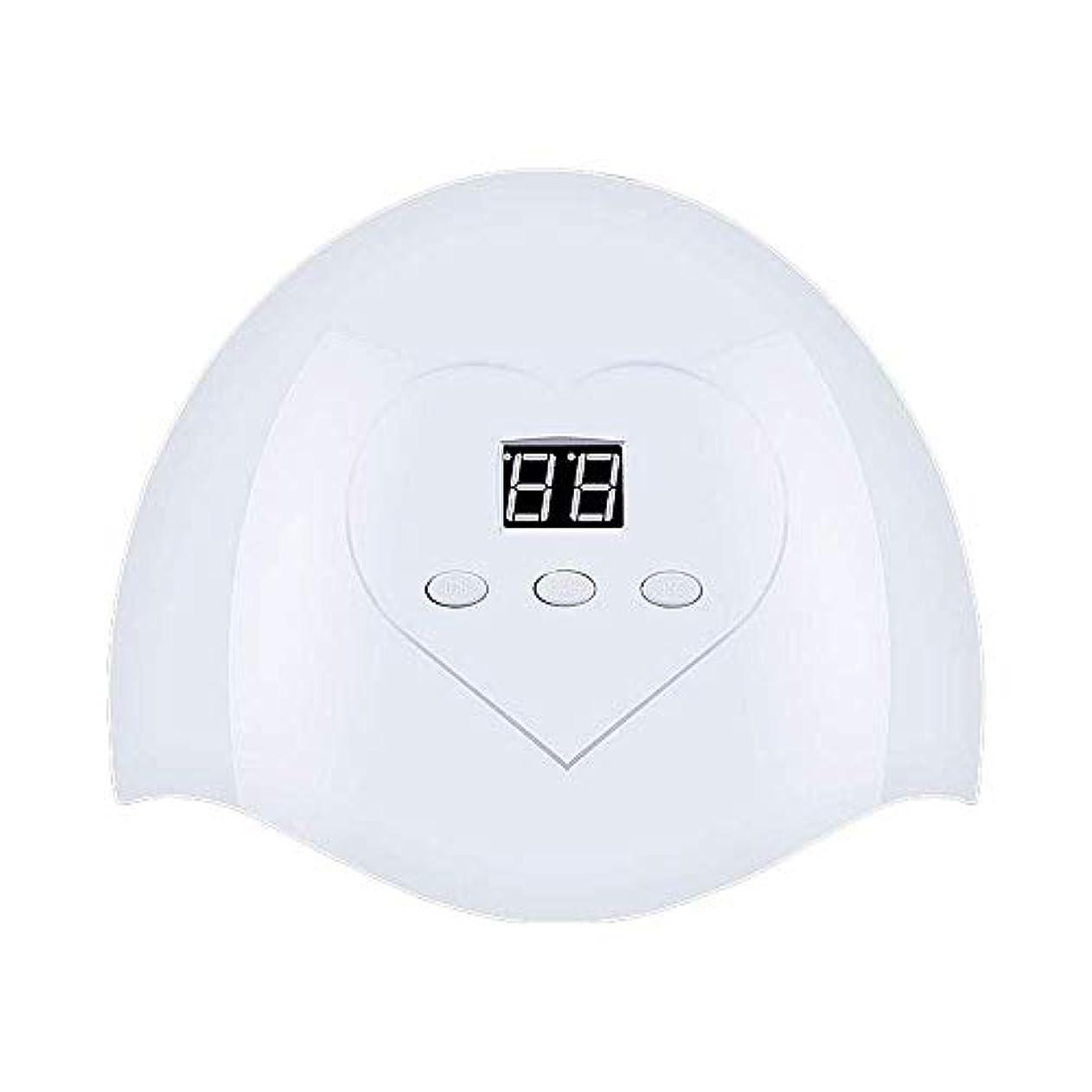 偽善者ウェーハ接尾辞DHINGM ネイルランプ、高速、非常にエネルギー効率と耐久性のある快適な非UVホワイトライト、いいえ瞳傷害、36W、12 UV + LEDデュアルLED光源、インテリジェントオートセンシング(なしスイッチ)、